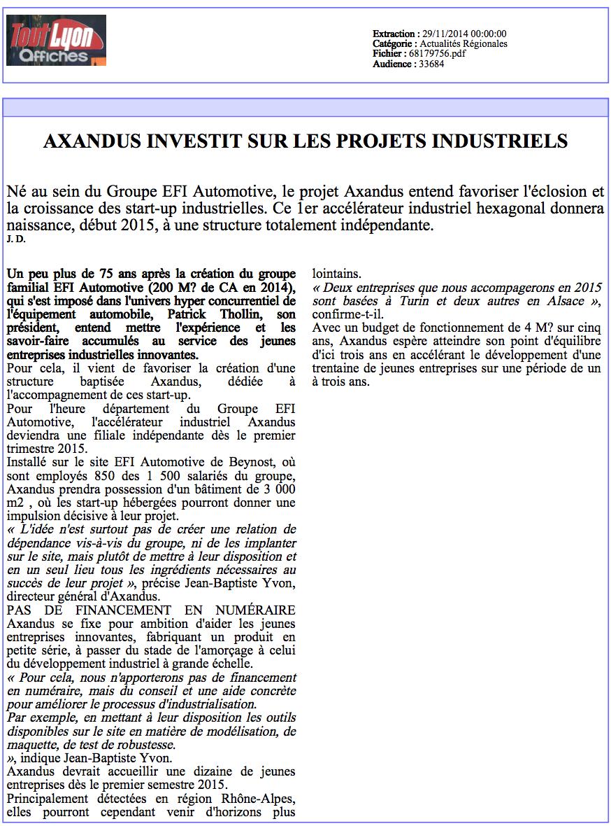 Le Tout Lyon Affiches - 29.11.2014